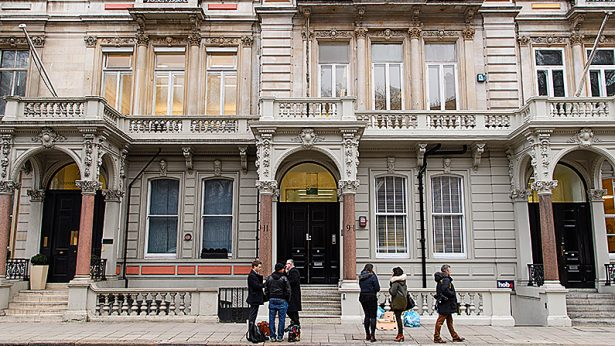 Journalists gather outside the headquarters of Orbis Business Intelligence, the company run by former intelligence officer Christopher Steele, on January 12, 2017 in London, England.(Leon Neal/Getty Images)