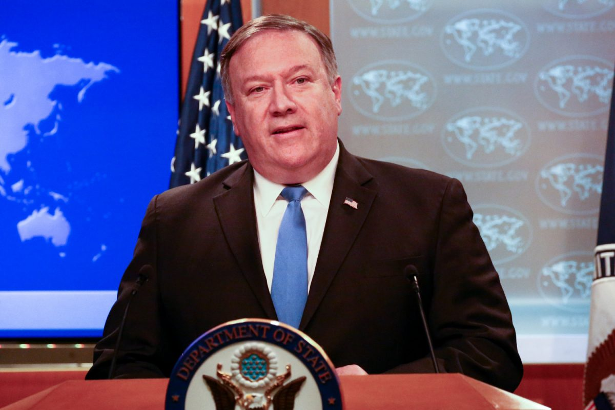 Mike Pompeo at press briefing