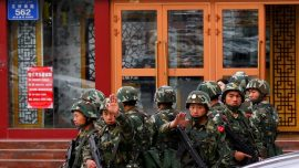 Video Shows Xinjiang Residents Forcibly Locked in Homes