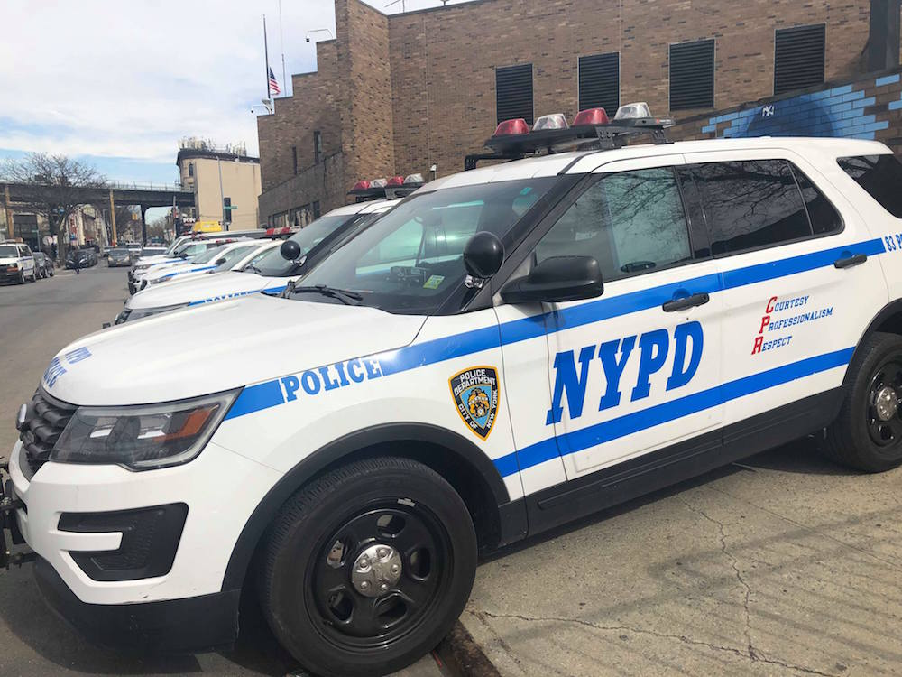 NYPD Police Car stock photo