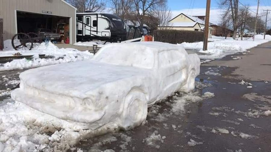 Snow Car Inspired by Ford Mustang Gets a Parking Ticket