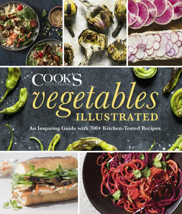 """The cover for the cookbook """"Vegetables Illustrated."""