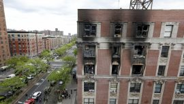 Friends and Relatives Mourn The Victims Who Died In Harlem Fire, Holds Vigil
