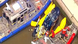 Pilot Escapes Nearly Unscathed After NYC Helicopter Plunge