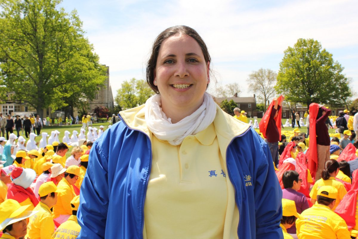 Falun Gong practitioner Myriam Orso