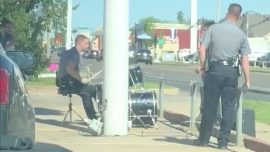 A Police Officer Responded to a Noise Complaint About a Man Playing the Drums—He Sat Down and Jammed out Too