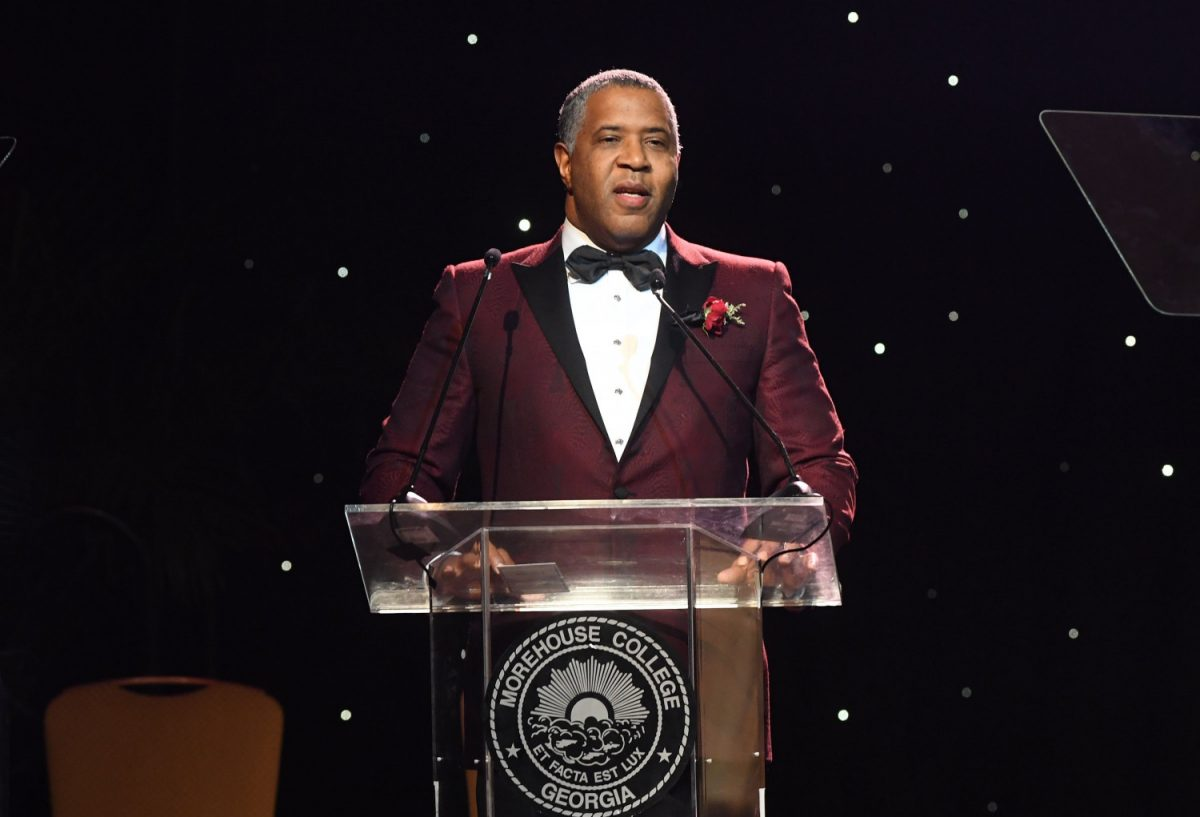 Billionaire Robert F. Smith speaks