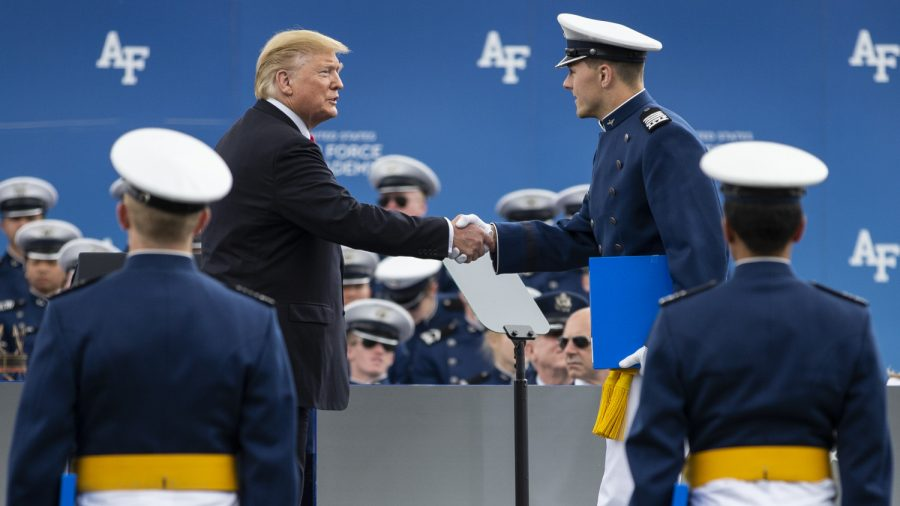 Trump Shakes Hand of Every Air Force Academy Graduate Following Commencement Speech
