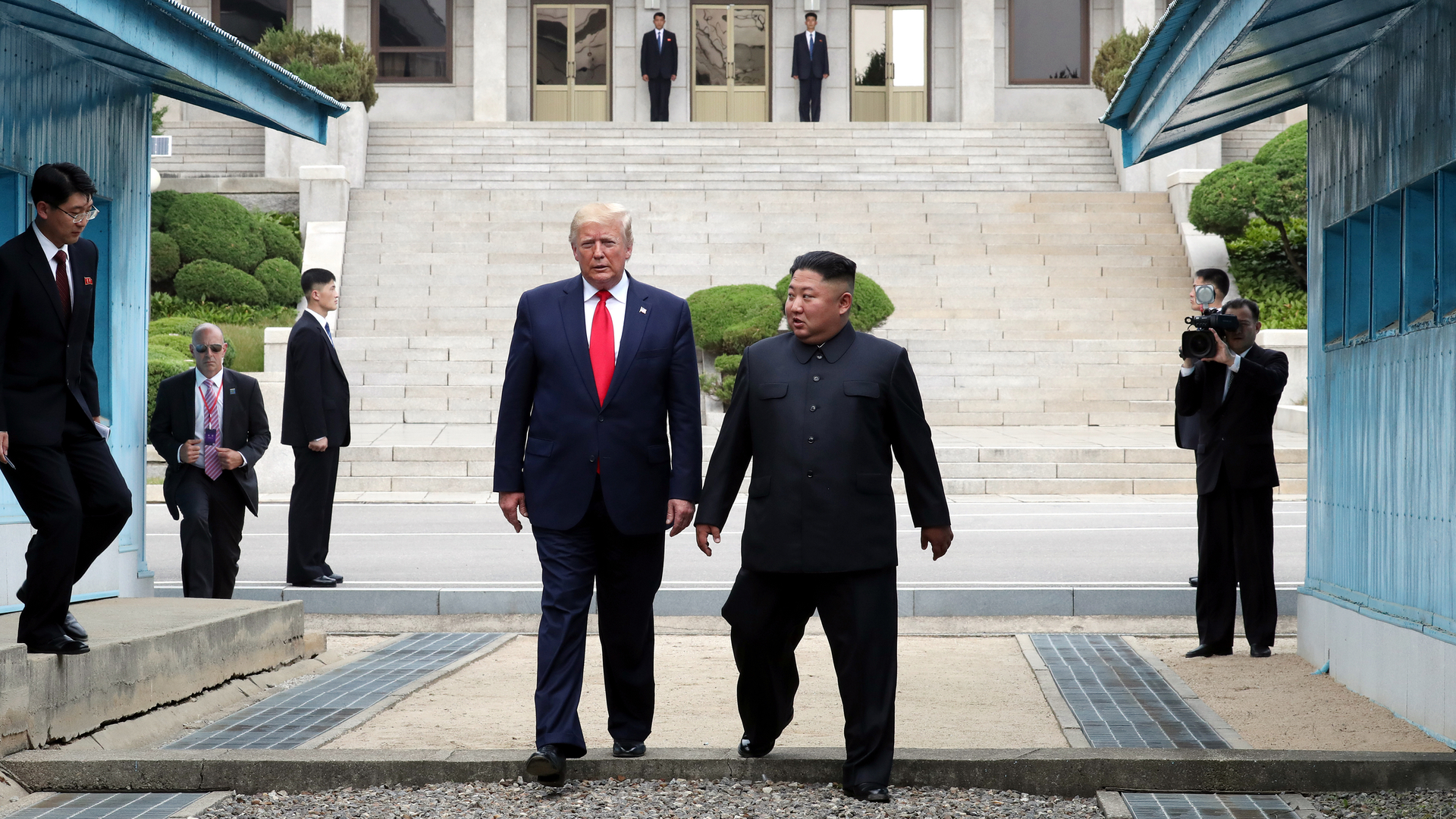 Trump Becomes First American President to Set Foot in North Korea