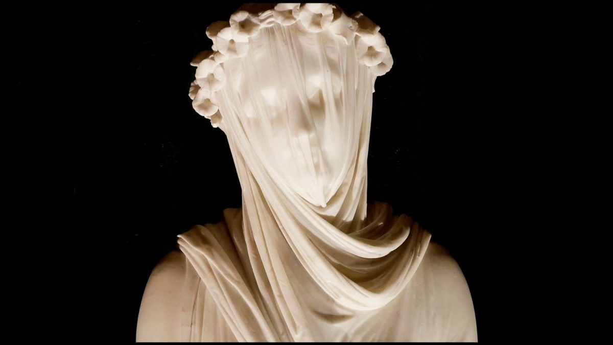 """The Veiled Vestal"" by Victorian Italian sculptor Raffaele Monti (Courtesy to Sotheby's) )"