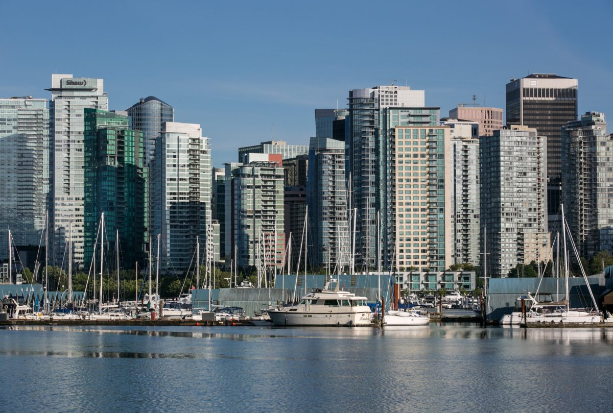 Vancouver's city skyline and Coal Harbor