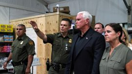 Pence Visits Migrant Detention Center in Texas, Says Immigration System 'Overwhelmed'