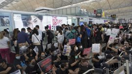 Flights out of Hong Kong Canceled Again Amid Protests