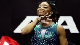 Gymnast Simone Biles Performs Historical, Never-Before-Seen Maneuver During Competition