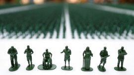 40,000 Toy Soldiers Highlight Plight of Injured British Veterans