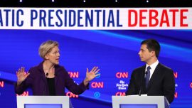 Democrats Pile on Warren Over Healthcare Costs During Debate