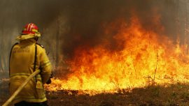 Bushfire Crews in Australia Backburn to Protect Homes