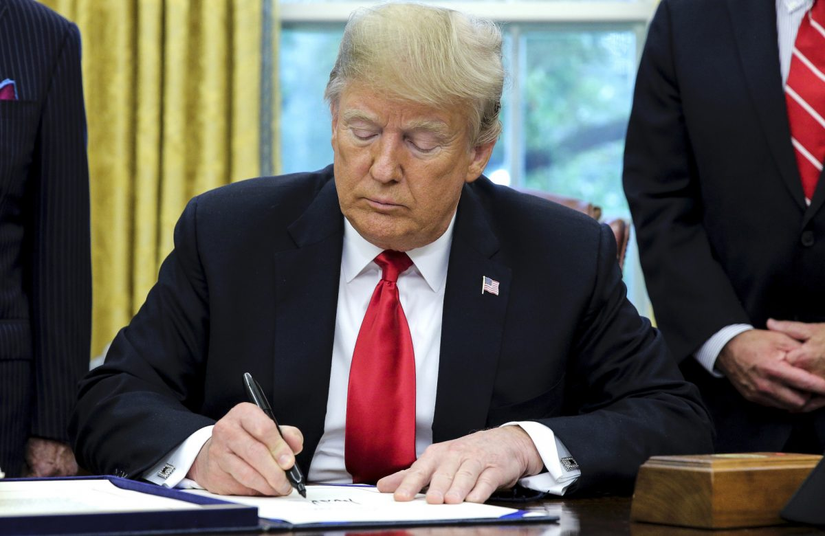 Trump signs the 'Save Our Seas Act of 2018'