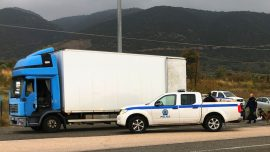 Police Find 41 Migrants Alive in Truck in Northern Greece