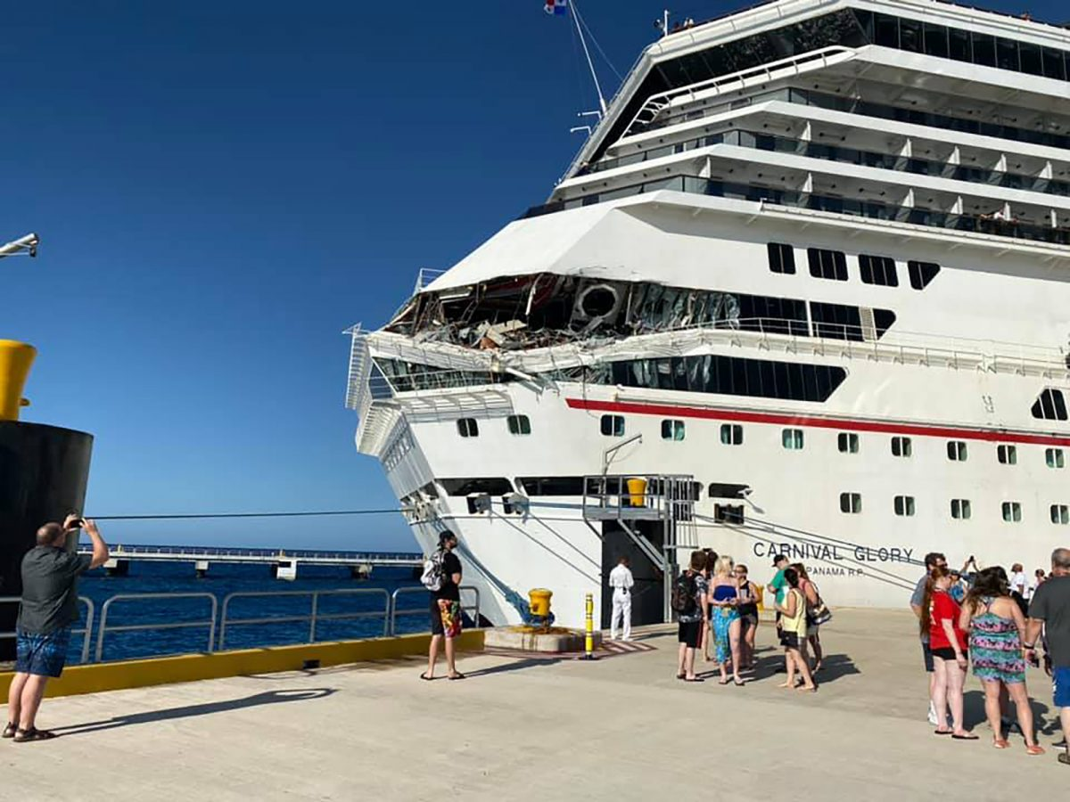 Two Carnival Cruise Ships Just Collided in Cozumel, Mexico