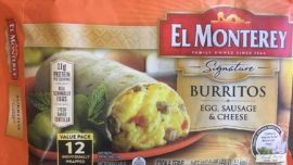 Recall Issued for Frozen Breakfast Burritos Over Plastic Contamination Concerns