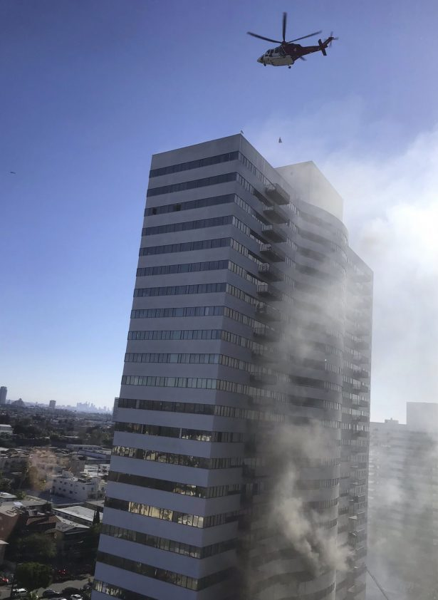 Los Angele high rise fire