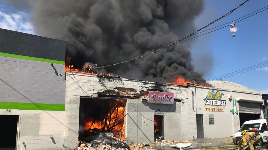 3 People Injured in Explosion and Fire in Los Angeles