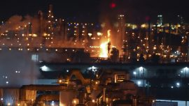 Refinery Fire in Metro LA Controlled by Firefighters