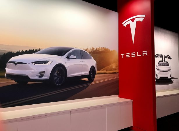 Posters showing the Tesla Model X