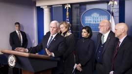 Pence Says Risk From Coronavirus Remains Low, Urges Americans to Use Common Sense
