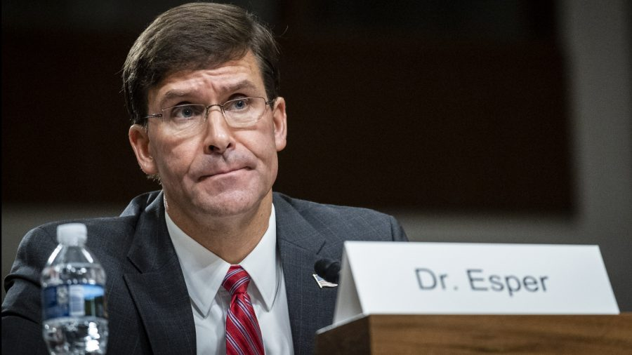 Esper: US Watching China 'Very Carefully'
