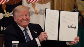 Trump Signs Executive Order Cutting Federal Regulations to Spur Economic Growth