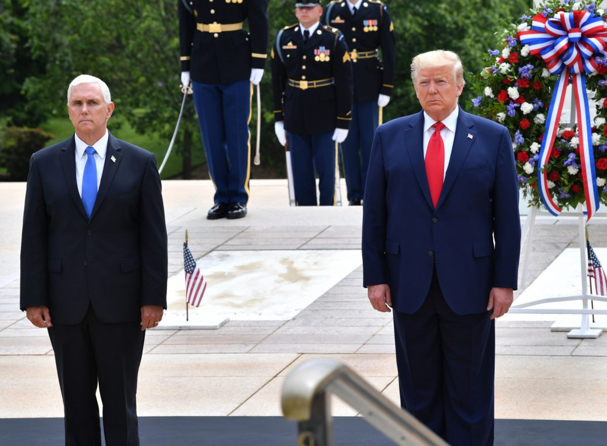 Trump and Pence at Wreath Laying Ceremony