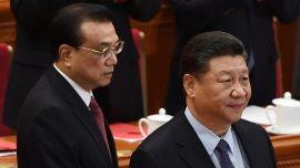 Humiliation of Chinese Premier Raises Hints at Power Struggle; Beijing's Tiananmen Square Flooded