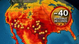 Record Heat Possible From California to Florida on Sunday