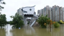 Dam Destroyed in Flood Emergency; 2nd Flood Wave arrives on Yangtze River; Xinjiang Virus Unrest