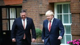 Pompeo in UK to Discuss China With Prime Minister Boris Johnson