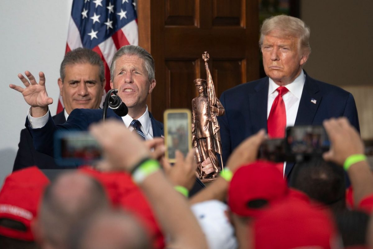 NYCPBA President Patrick Lynch and Trump