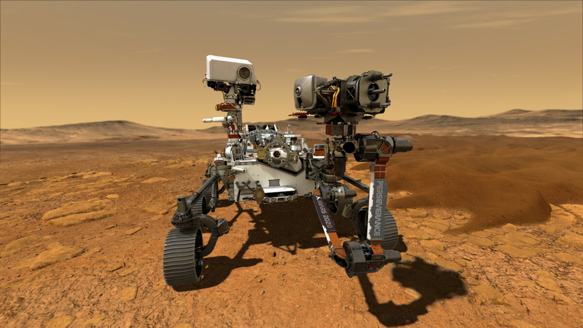NASA's Perseverance Mars rover is seen in an undated illustration provided by Jet Propulsion Laboratory