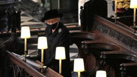 Queen Elizabeth Stands Alone as Prince Philip Is Laid to Rest