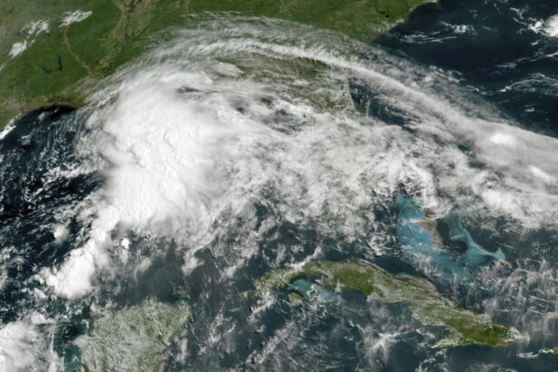 A tropical weather system