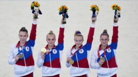 With Simone Biles Out, Russians Win Women's Team Gymnastics