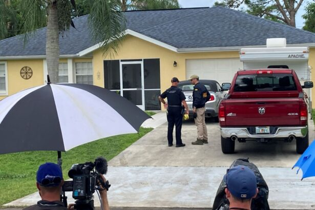 Officials investigate home of Brian Laundrie