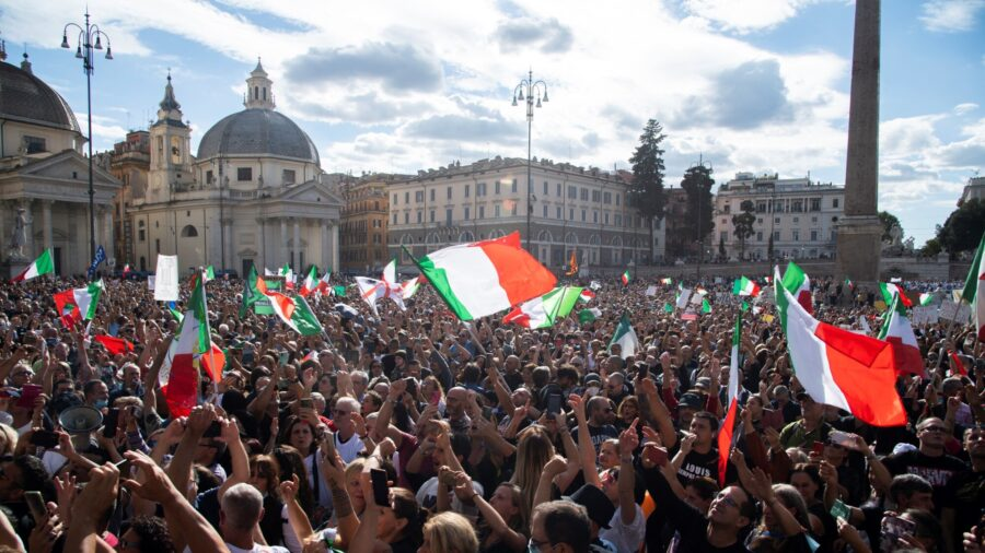 Protests Erupt Across Italy Over COVID-19 Vaccine Mandates