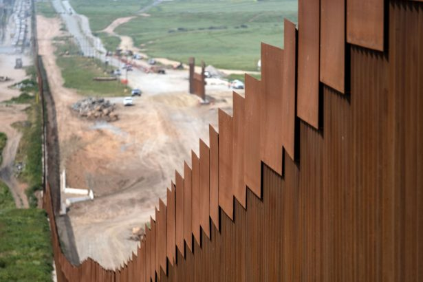 A section of the US-Mexico border fence