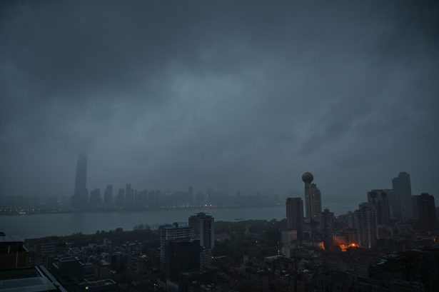 The Yangtze River and buildings in Wuhan